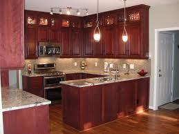 kitchen elegant classic cherry kitchen cabinets low rattan