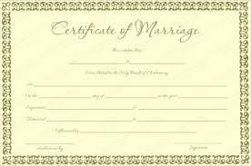 free printable marriage certificate templates editable u0026 printable