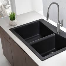 Kitchen Sink Black Modern Kitchen Black Blanco Sinks Plus Kitchen Faucet On White