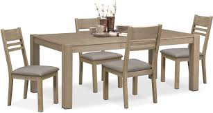 tribeca table and 4 side chairs gray value city furniture