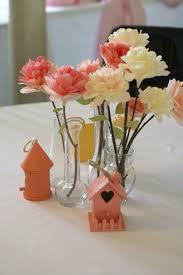 diy wedding coffee filter paper flowers centerpieces vintage