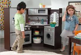 cuisine en angle cuisine d angle en bois pour enfant kidkraft 53365 avec et