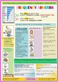 adverbs of frequency esl pinterest adverbs printables and