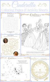 cinderella coloring pages activity sheets supermom