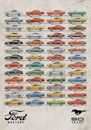 ford mustang history timeline ford mustang timeline history 50 years digital by yurdaer bes