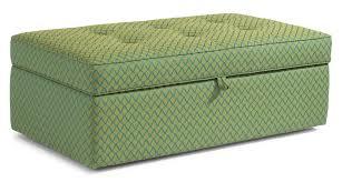 flexsteel accents daphne rectangular storage ottoman wayside