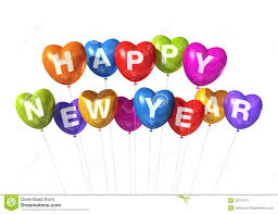 happy new year balloon colored happy new year heart shaped balloons stock image image