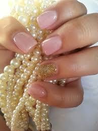 acrylic nail light pink abd gold yelp