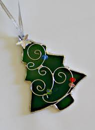 Christmas Decoration For Glass Door by Stained Glass Christmas Tree Christmas Ornament Stained Glass