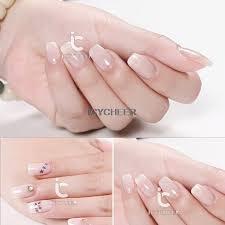 White Pink Nail Icycheer Opal Jelly Gel Nail Uv Led Gel White Pink Soak