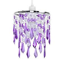 Chandelier Lamp Shades With Crystals Modern Purple Clear Acrylic Crystal Ceiling Light Lamp Shade