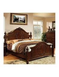 furniture of america bedroom set velda ii brown cherry finish