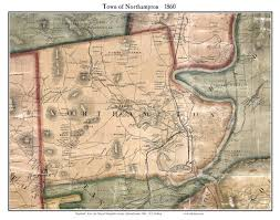 Map Of Massachusetts Cities Towns by Old Maps Of Northampton