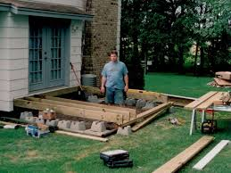 tips build a deck home depot ground level decks ground level deck