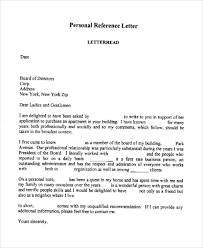 personal reference letter template 7 character reference letter