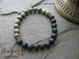 mens bracelet beads images Perfect mens bracelet lava and green opal mala beads bracelet jpg