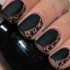 fall nails champagne mauve leopard metallic glitter sparkle