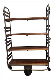 Wood Bakers Racks Furniture Kitchen Room Magnificent Wire Shelving Bakers Rack Wrought Iron