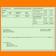 Check Stub Template For Excel 4 Pay Stub Template Excel Receipt Templates