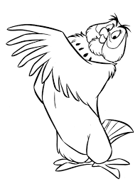 owl winnie the pooh coloring pages