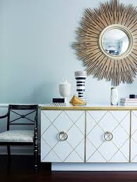 Mirror Over Dining Room Table - baroque mirrored sideboard in dining room traditional with gold