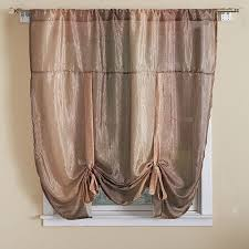 Tie Up Valance Curtains Ombre Tie Up Shade 50x63 Boscov S