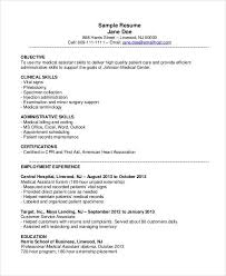 resume template medical medical assistant resume template 8 free