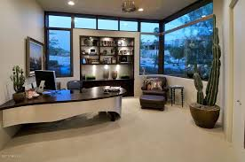 Built In Office Desk Ideas Modern Home Office With High Ceiling U0026 Carpet In Tucson Az