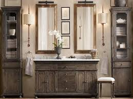 Rustic Country Bathroom Vanities Weathered Vanity And Superb Rustic Mirror Using Tubular Mounted