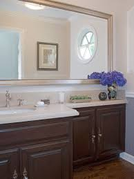 Wood Frames For Bathroom Mirrors - wood frame bathroom mirror houzz