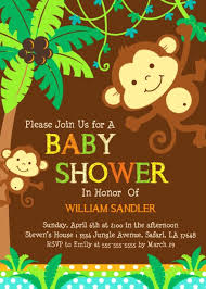 baby shower monkey free printable monkey baby shower invitations theruntime
