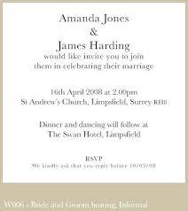 simple wedding invitation wording simple wedding invitation wording from and groom 6122