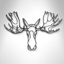 moose trophy sustainable wood wall sign hu2 com