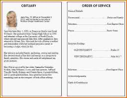 funeral obituary templates funeral program template