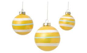 retro yellow stripe ornaments jayson home