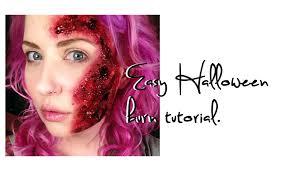halloween blood background gory bloody burn halloween makeup tutorial using toilet paper