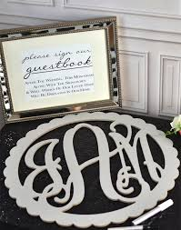 monogram guest book wedding guest book monograms