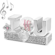 baptism snow globes i you musical snow globe boxes water