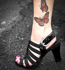ankle butterfly ideas and ankle butterfly designs