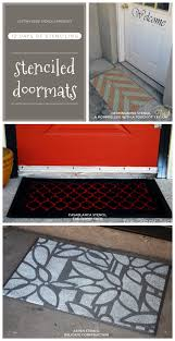 Holiday Doormat 12 Days Of Stenciling A Stenciled Doormat Stencil Stories