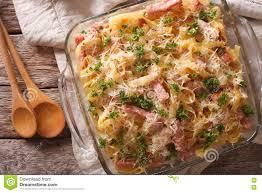 cuisine autrichienne cuisine autrichienne macro de schinkenfleckerln dans le plat de