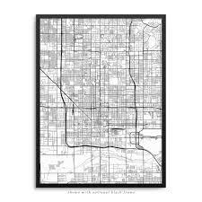 Az City Map Phoenix Arizona Poster U2013 City Map Decor