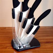 stone river 4 pc ceramic knife set with acrylic holder 225836