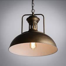 Dome Pendant Light Dome Pendant Light Black U0026 Brown Loft Vintage Industrial Style