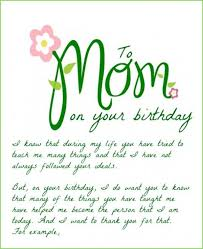 birthday card sayings mother in law