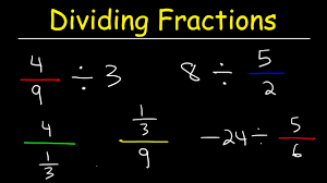 dividing fractions with whole numbers and negative numbers youtube