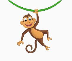 hanging monkey template free download clip art free clip art