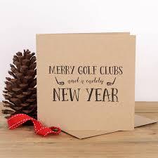 golf christmas card chrismast cards ideas