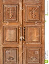 church entrance wooden doors stock image image 3874681