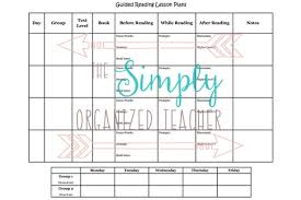 guided reading lesson plan template also in my binder are my